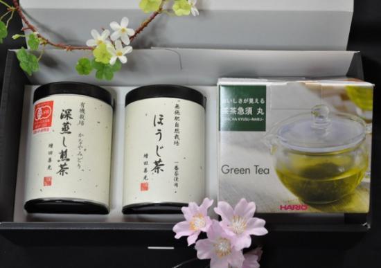 ガラスの急須とお茶のセット