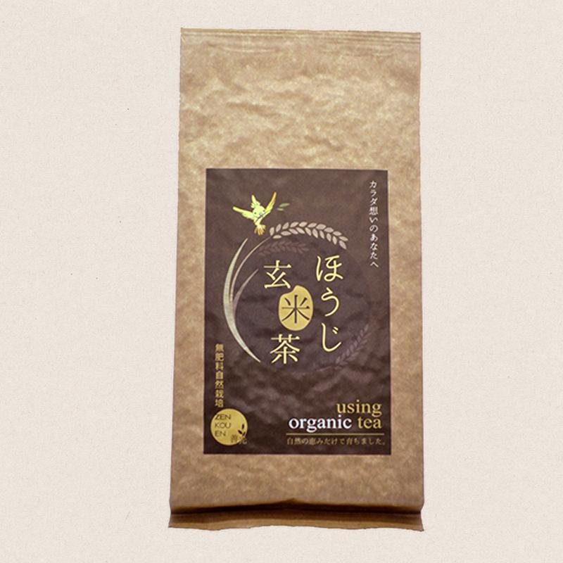 無肥料自然栽培 ほうじ玄米茶150g