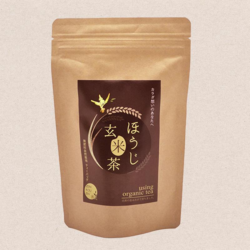 ティーバッグL 無肥料自然栽培 ほうじ玄米茶 5g×20P